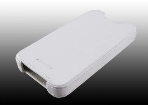 iPhone 4S Pouch Leather Case White